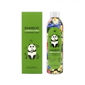Пенка для умывания с углем и бамбуком SeaNtree Bamboo Charcoal Fresh Cleansing Foam