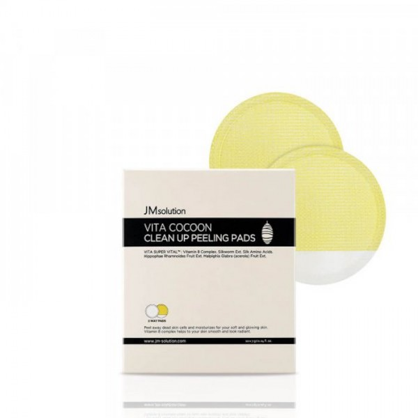 Гликолевый пилинг пэд для естественного сияния кожи JMSolution Vita Cocoon Clean Up Peeling Pads