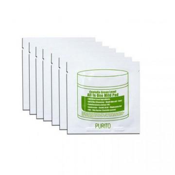 Увлажняющие пэды с центеллой для очищения кожи PURITO Centella Green Level All In One Mild Pad