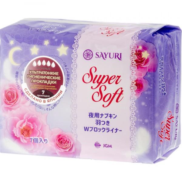 Прокладки ночные гигиенические 32см Sayuri Super soft, 7шт
