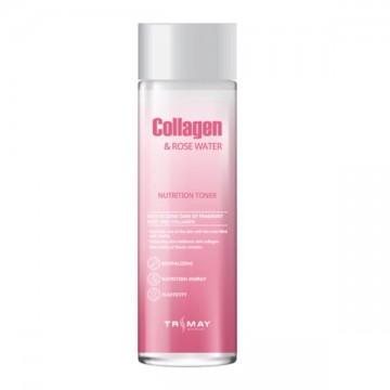 Питательный тонер с коллагеном и розовой водой Trimay Collagen Rose Water Nutrition Tone
