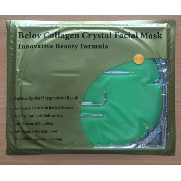 Коллагеновая маска для лица с алоэ вера/Collagen Crystal Facial Mask Aloe (green)